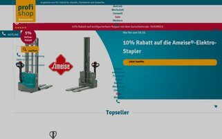 Jungheinrich PROFISHOP Webseiten Screenshot