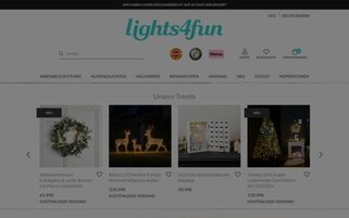 Lights4fun Webseiten Screenshot
