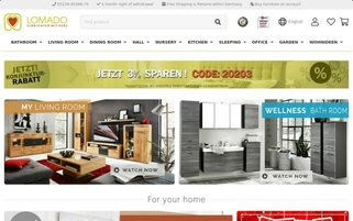 Lomado Webseiten Screenshot