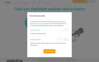 mysimpleshow Webseiten Screenshot