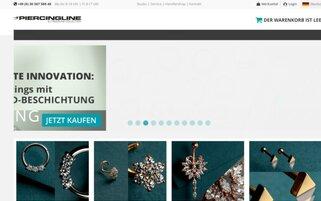 Piercingline Webseiten Screenshot