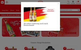 Stiegl Webseiten Screenshot