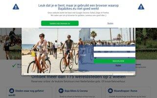 Bajabikes Webseiten Screenshot