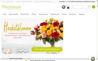Blumenshop Webseiten Screenshot