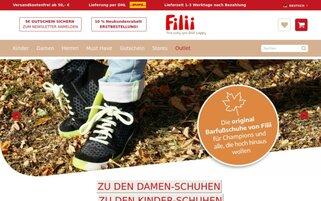 Filii Webseiten Screenshot
