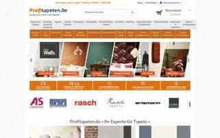 Profitapeten Webseiten Screenshot