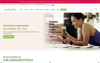 Vitality4Life Webseiten Screenshot