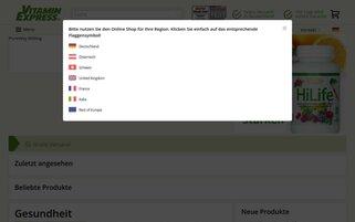 VitaminExpress Webseiten Screenshot