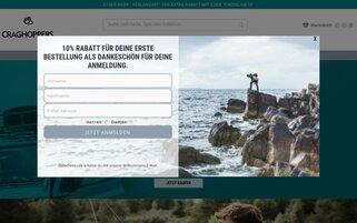 Craghoppers Webseiten Screenshot