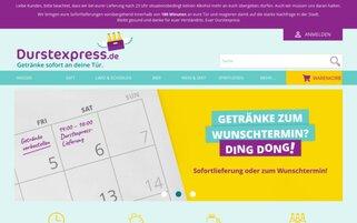 Durstexpress Webseiten Screenshot