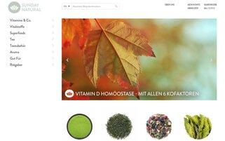 Sunday Natural Webseiten Screenshot