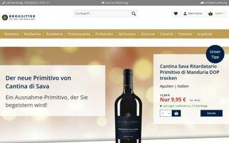 Brogsitter Webseiten Screenshot