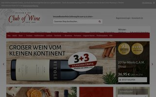 Club of Wine Webseiten Screenshot