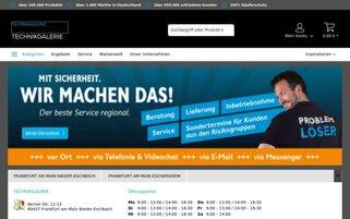 Technikgalerie Webseiten Screenshot