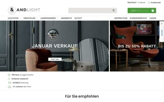 ANDLIGHT Webseiten Screenshot