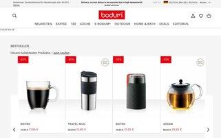 Bodum Webseiten Screenshot