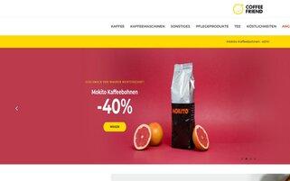 Coffee Friend Webseiten Screenshot