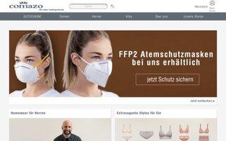 Comazo Webseiten Screenshot