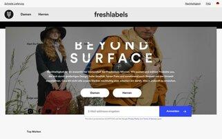 Freshlabels Webseiten Screenshot