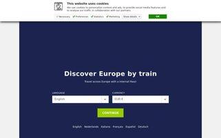 Interrail Webseiten Screenshot