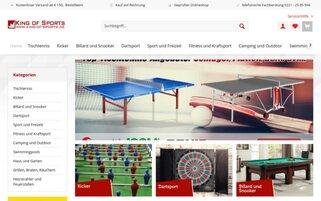 King of Sports Webseiten Screenshot
