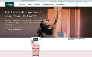 Kneipp Webseiten Screenshot