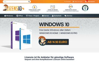 Lizensio Webseiten Screenshot