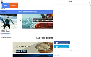 PrivateSportShop Webseiten Screenshot
