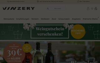 VINZERY Webseiten Screenshot