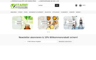 vitaminversand24 Webseiten Screenshot
