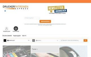 Druckerpatronenexpress Webseiten Screenshot