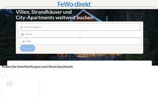 FeWo-Direkt Webseiten Screenshot