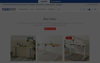FlexiSpot Webseiten Screenshot