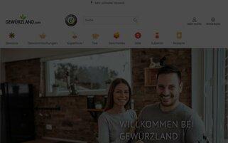 Gewürzland Webseiten Screenshot
