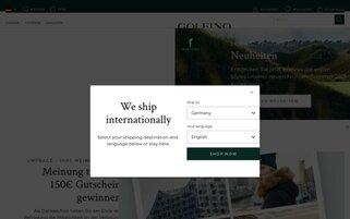 Golfino Webseiten Screenshot
