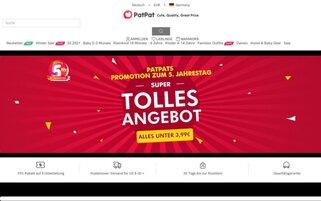 PatPat Webseiten Screenshot