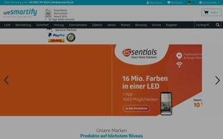 wesmartify Webseiten Screenshot