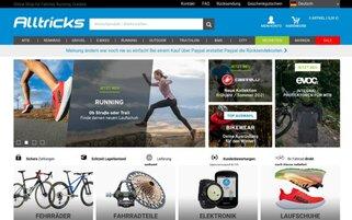 Alltricks Webseiten Screenshot