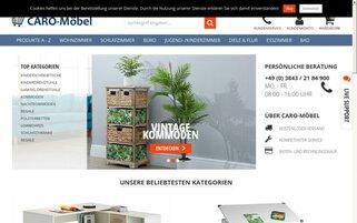 CARO-Möbel Webseiten Screenshot