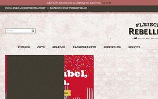 Fleischrebellen Webseiten Screenshot