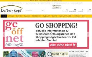 Koffer-Kopf Webseiten Screenshot