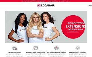 Locahair Webseiten Screenshot