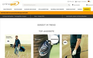 Online Golf Webseiten Screenshot