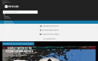 Pop In A Box Webseiten Screenshot
