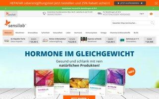 Sensilab Webseiten Screenshot