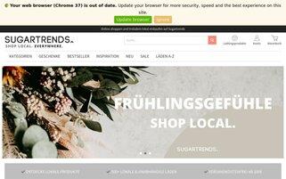 Sugartrends Webseiten Screenshot