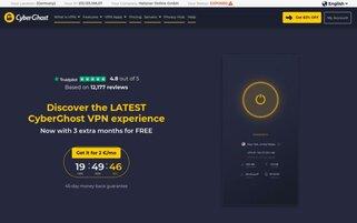 CyberGhost Webseiten Screenshot