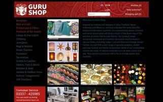 Guru Shop Webseiten Screenshot