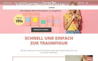 TummyTox Webseiten Screenshot