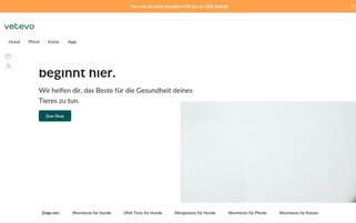 Vetevo Webseiten Screenshot